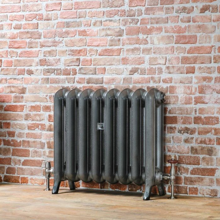 Milano Tamara - Oval Column Cast Iron Radiator - 560mm Tall - Pewter - Multiple Sizes Available