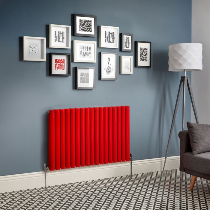 Milano Aruba - Red Horizontal Double Panel Designer Radiator - Various Sizes