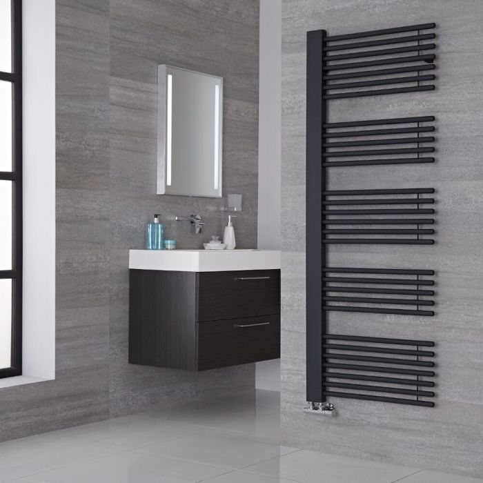 Lazzarini Way - Grando - Anthracite Designer Heated Towel Rail - 1600mm x 600mm