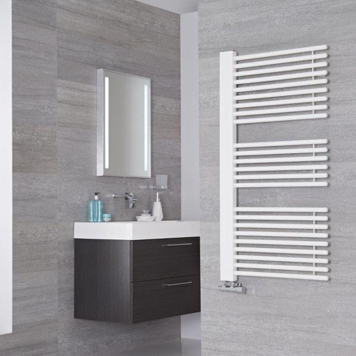 Lazzarini Way - Grado - Mineral White Designer Heated Towel Rail - 1190mm x 600mm