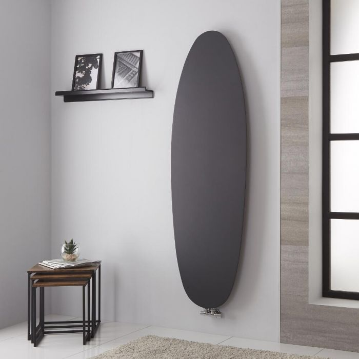 Lazzarini Way - Tavolara - Anthracite Vertical Designer Radiator - 1728mm x 535mm