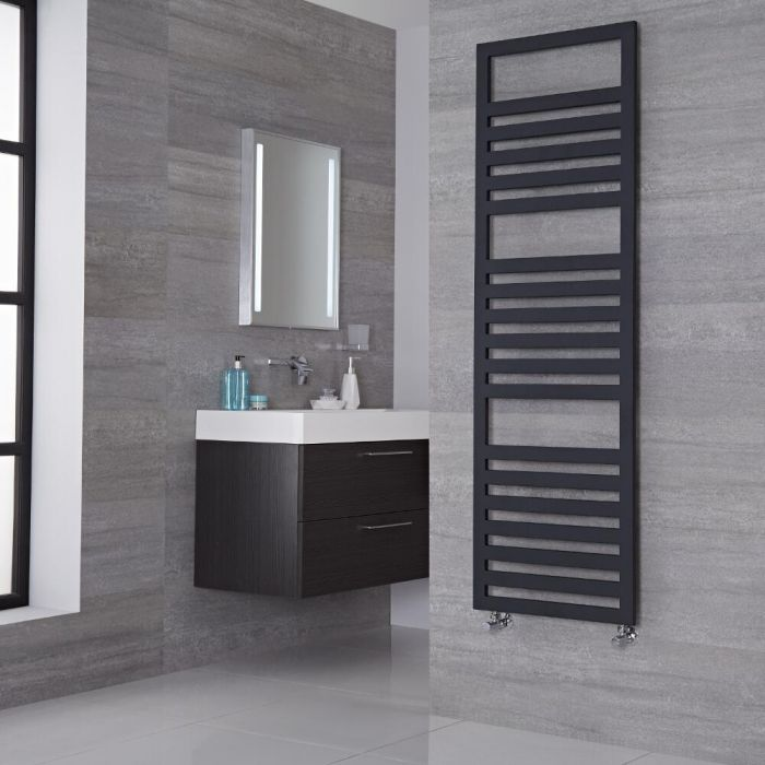 Lazzarini Way - Urbino - Anthracite Designer Heated Towel Rail - 1600mm x 500mm