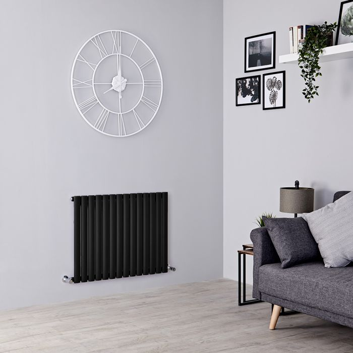 Milano Aruba Electric - Black Horizontal Designer Radiator 635mm x 834mm