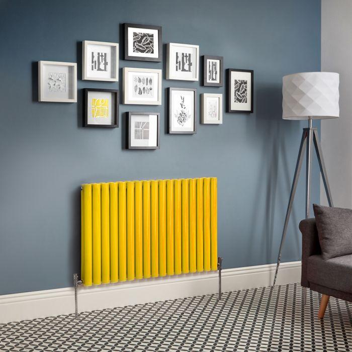 Milano Aruba - Yellow Horizontal Designer Radiator - Various Sizes