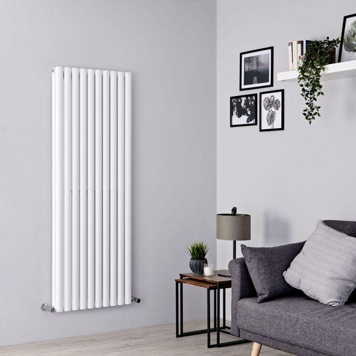 Milano Aruba - White Vertical Designer Radiator 1600mm x 590mm (Double Panel)