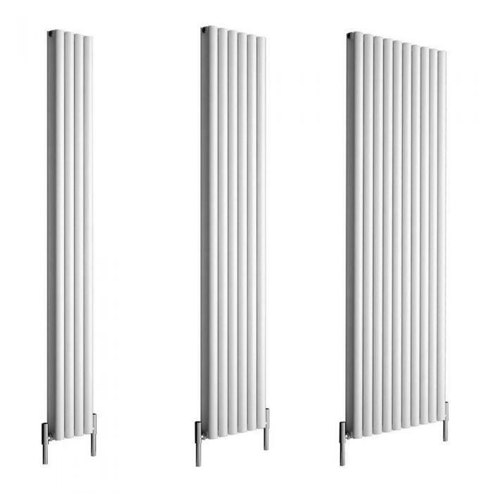 Milano Aruba Ayre - 1800mm White Vertical Aluminium Designer Radiator - Various Sizes