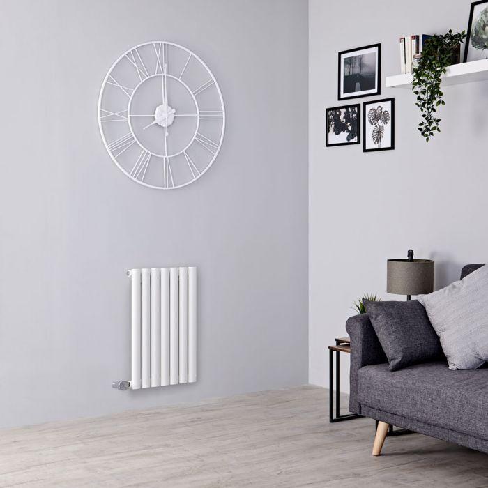 Milano Aruba Electric - White Horizontal Designer Radiator 635mm x 413mm