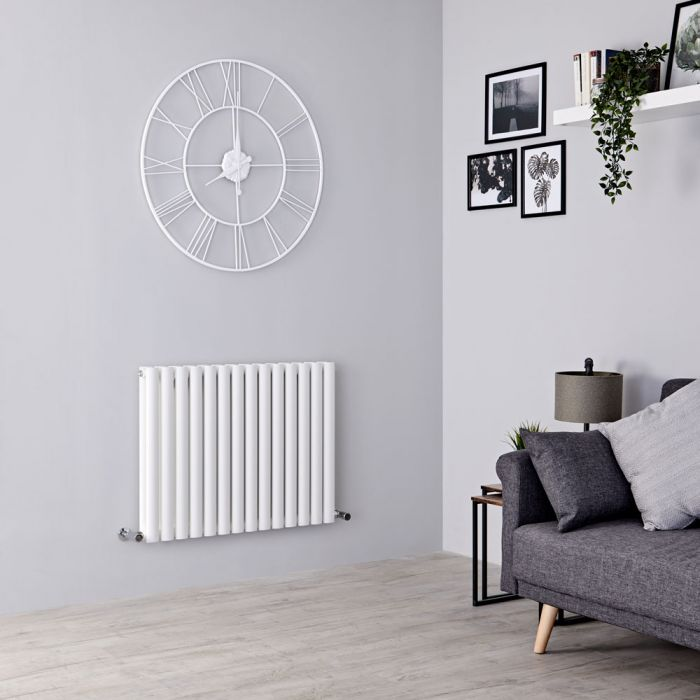 Milano Aruba - White Horizontal Designer Double Radiator 635mm x 826mm