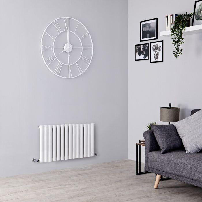 Milano Aruba - White Horizontal Designer Radiator 400mm x 826mm