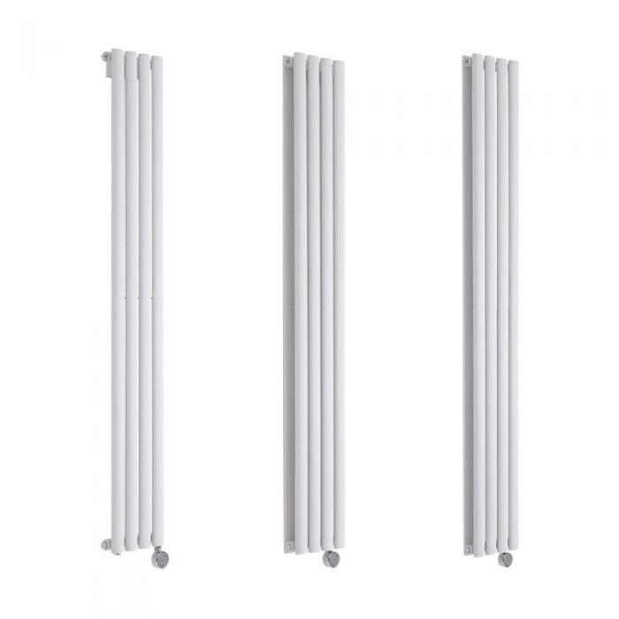 Milano Aruba Electric - 236mm White Vertical Designer Radiator - Various Sizes