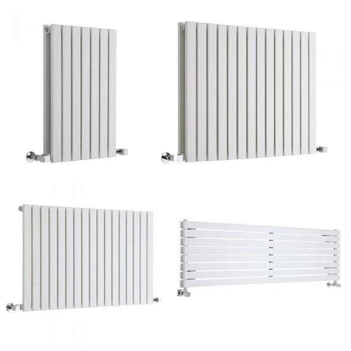 Milano Capri - White Horizontal Flat Panel Designer Radiator - Choice Of Height & Width