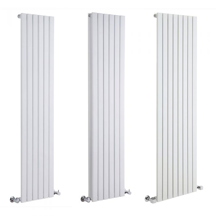 Milano Capri - White Flat Panel Vertical Designer Radiator - Various Sizes