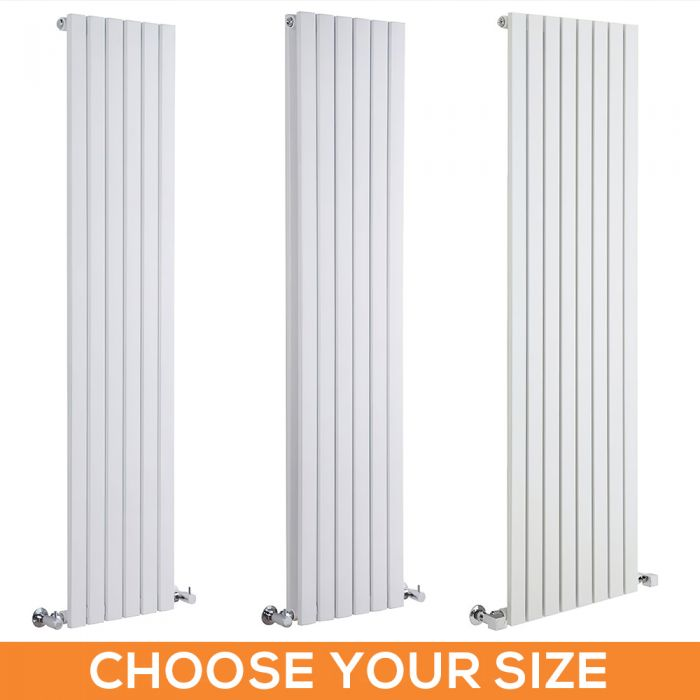 Milano Capri - White Flat Panel Vertical Designer Radiator - Various Sizes