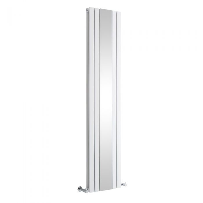 Milano Icon - White Vertical Mirrored Designer Radiator - Various Sizes