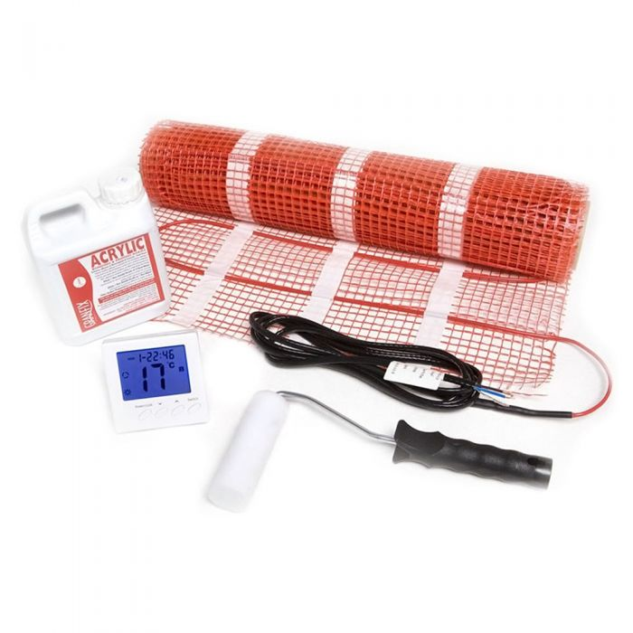 Milano - 150W Electric Underfloor Heating Mat Kit , Covers 2.0 Sqm