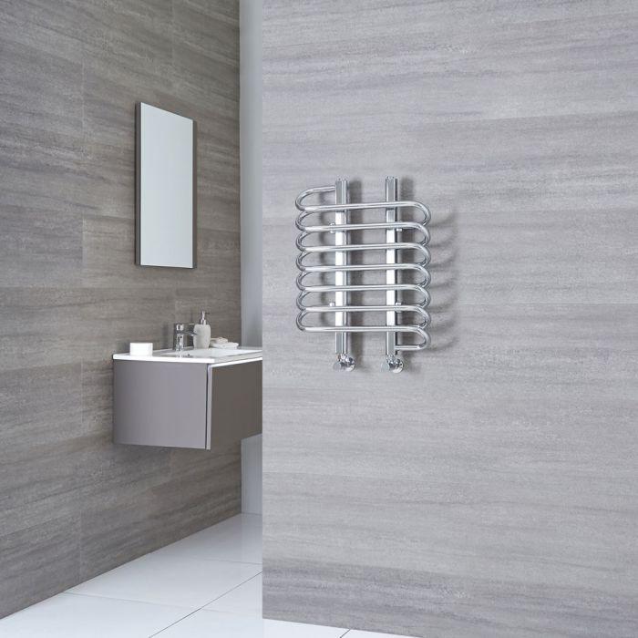 Milano Select - Chrome Designer Heated Towel Rail 610mm x 500mm