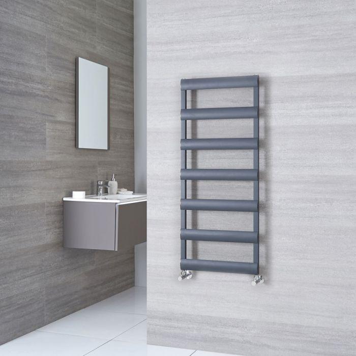 Milano Passo - Anthracite Aluminium Designer Towel Rail 1190mm x 500mm