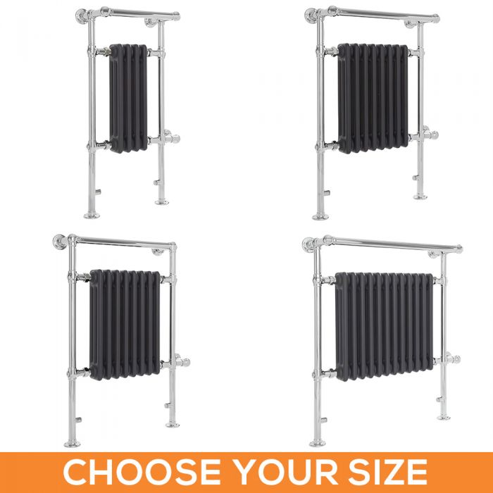Milano Elizabeth - Anthracite Traditional Electric Heated Towel Rail - Various Sizes
