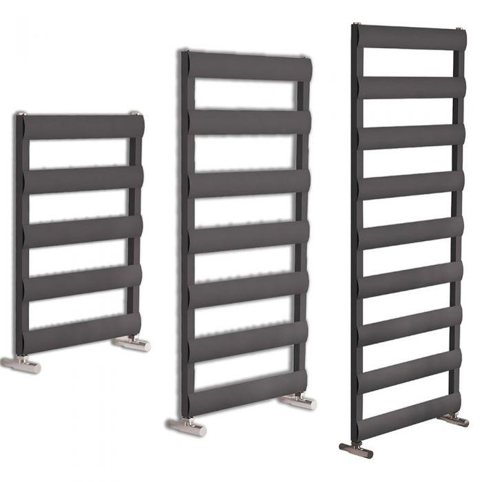 Milano Passo - Anthracite Aluminium Designer Towel Rail - Various Sizes