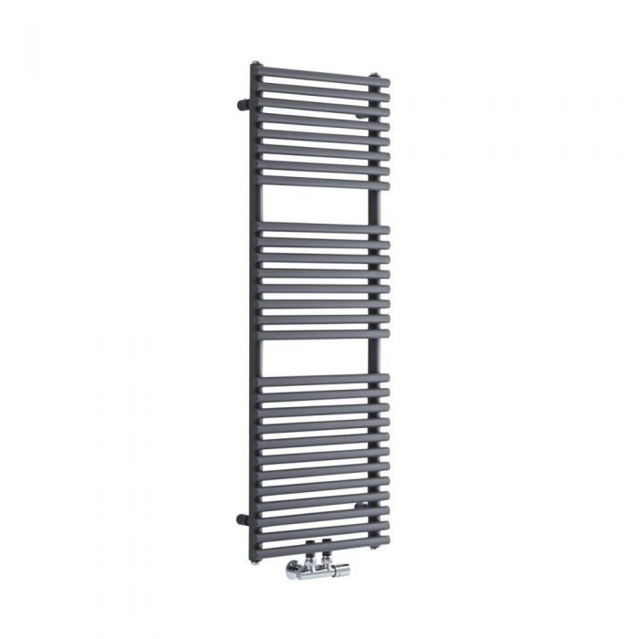 Milano Via - Anthracite Bar on Bar Central Connection Heated Towel Rail - Various Sizes