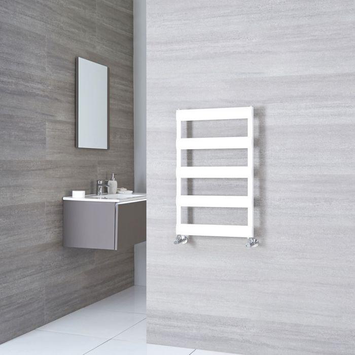 Milano Passo - White Aluminium Designer Heated Towel Rail 790mm x 500mm