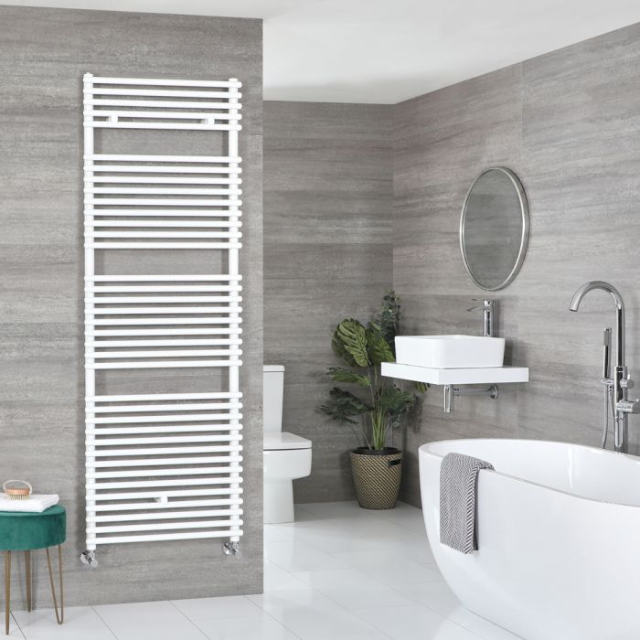 Milano Arno - Bar on Bar White Heated Towel Rail 1738mm x 450mm