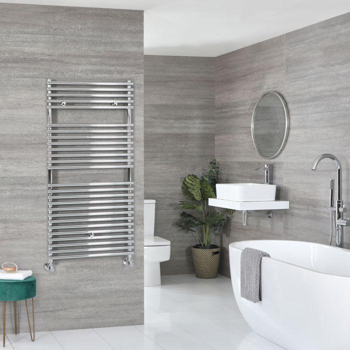 Milano Arno - Bar on Bar Chrome Heated Towel Rail 1190mm x 600mm