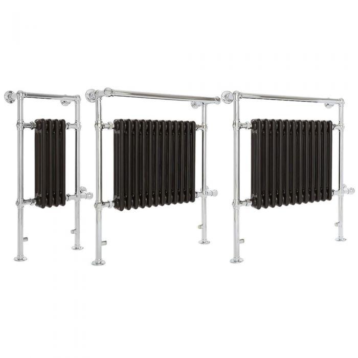 Milano Elizabeth - Black Traditional Electric Heated Towel Rail - Various Sizes