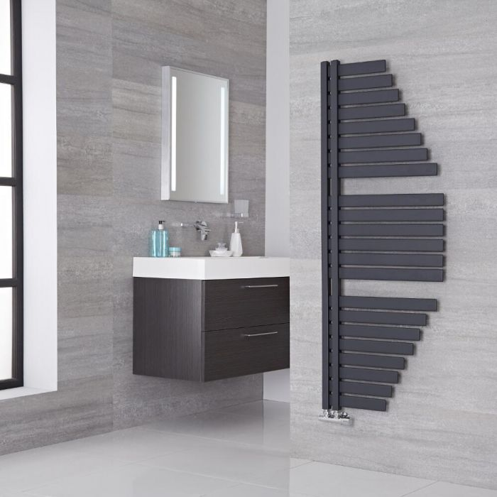Lazzarini Way - Spinnaker - Anthracite Designer Heated Towel Rail - 1460mm x 547mm