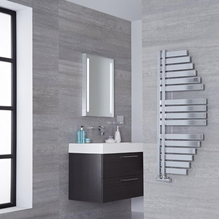 Lazzarini Way - Spinnaker - Chrome Designer Heated Towel Rail - 1100mm x 483mm