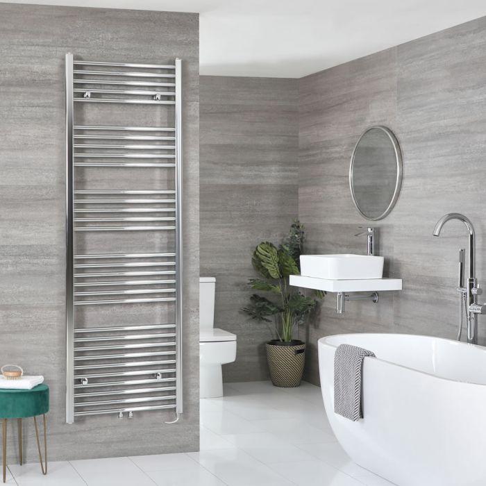 Milano Neva Electric - Chrome Heated Towel Rail 1785mm x 500mm