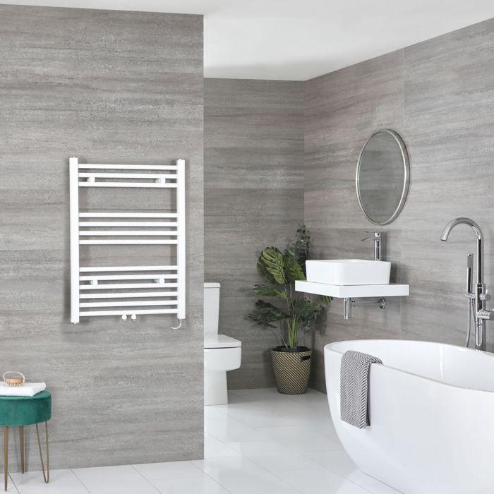 Milano Neva Electric - White Heated Towel Rail 803mm x 500mm