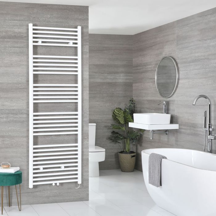 Milano Neva Electric - White Heated Towel Rail 1785mm x 500mm