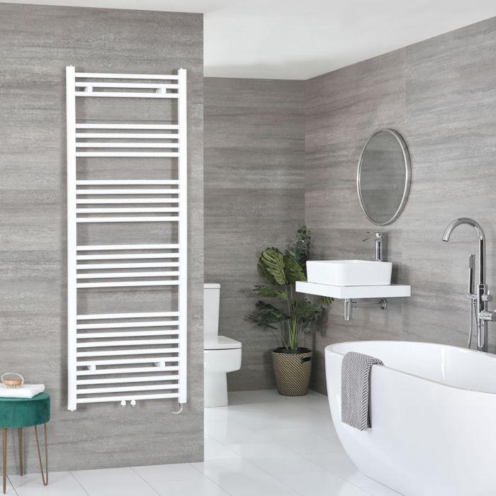 Milano Neva Electric - White Heated Towel Rail 1600mm x 600mm