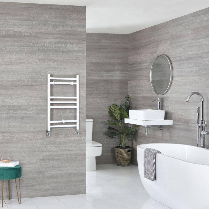 Milano Ive - Flat White Heated Towel Rail 600mm x 400mm