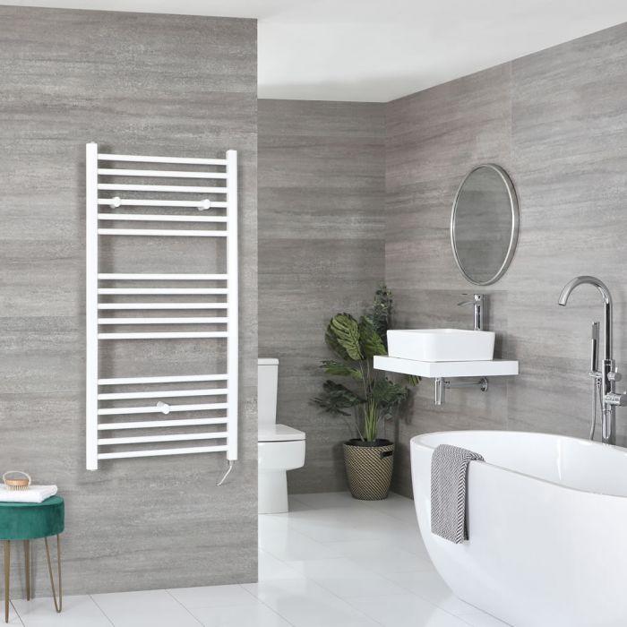 Milano Ive Electric - Flat White Heated Towel Rail 1200mm x 500mm