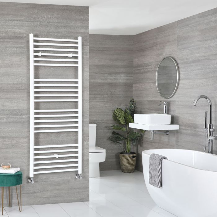 Milano Ive - Flat White Heated Towel Rail 1600mm x 500mm