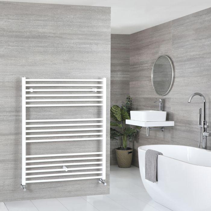 Milano Ive - Flat White Heated Towel Rail 1200mm x 1000mm