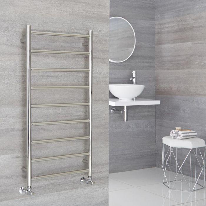 Milano Esk - Stainless Steel Flat Heated Towel Rail - 1000mm x 500mm