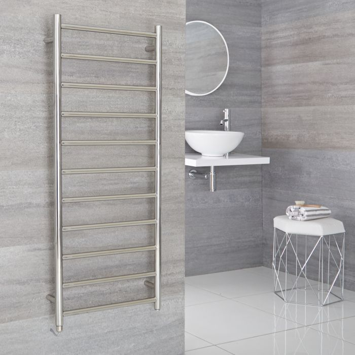 Milano Esk Electric - Electric Stainless Steel Flat Heated Towel Rail - 1200mm x 500mm