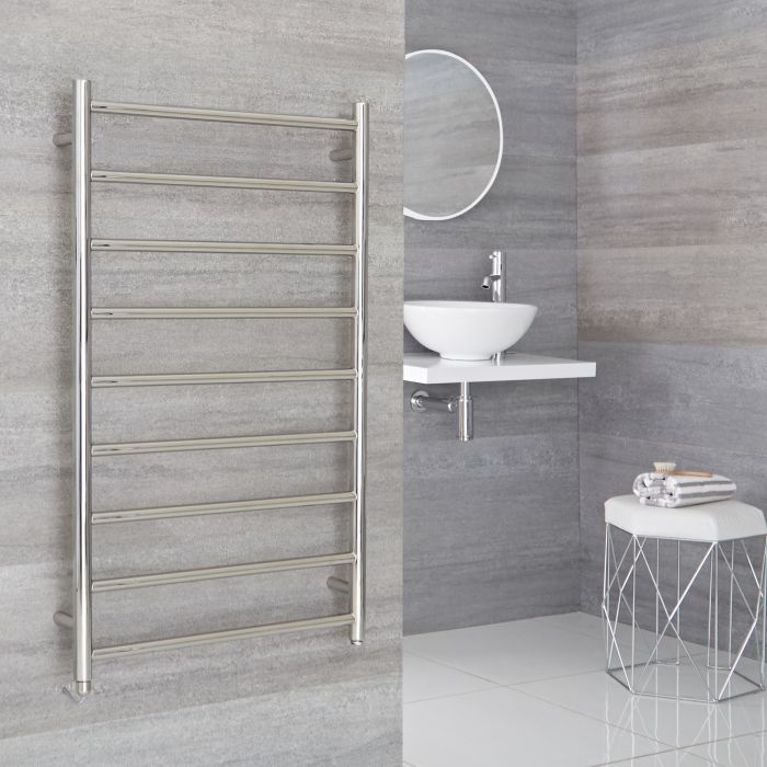 Milano Esk  - Electric Stainless Steel Flat Heated Towel Rail - 1000mm x 600mm