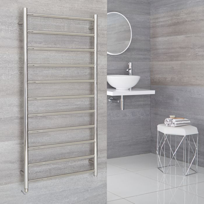 Milano Esk - Electric Stainless Steel Flat Heated Towel Rail - 1200mm x 600mm