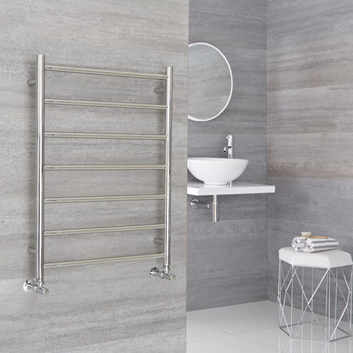 Milano Esk - Stainless Steel Flat Heated Towel Rail - 800mm x 600mm