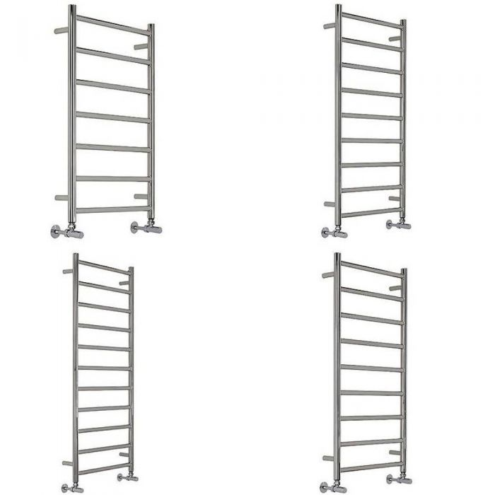 Milano Esk - Stainless Steel Flat Heated Towel Rail - Various Sizes