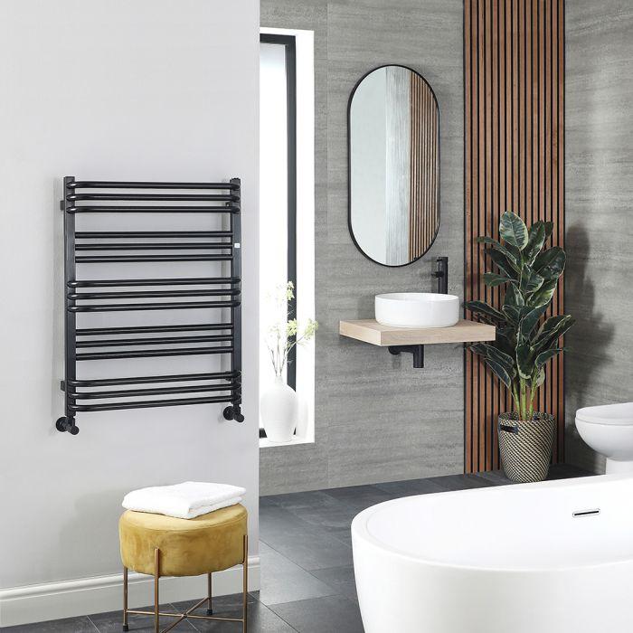Terma Pola - Black D-Bar Heated Towel Rail 780mm x 600mm