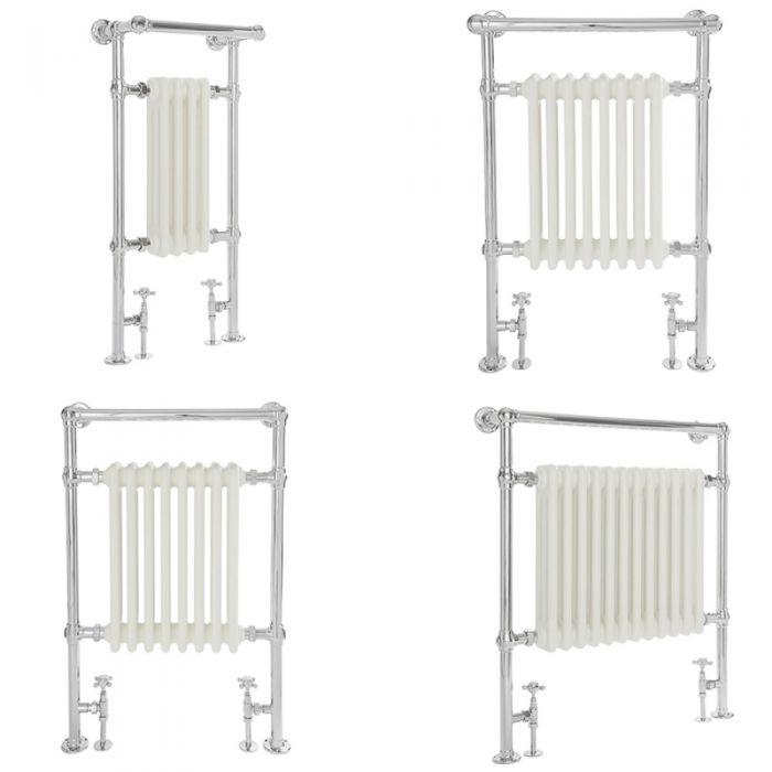Milano Elizabeth - White Traditional Heated Towel Rail - Various Sizes