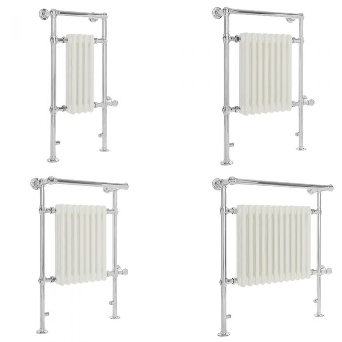 Milano Elizabeth - White Traditional Electric Heated Towel Rail - Various Sizes