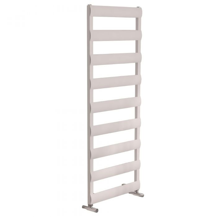 Milano Passo - White Aluminium Designer Towel Rail - Various Sizes