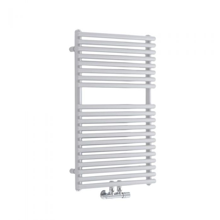 Milano Via - White Bar on Bar Central Connection Heated Towel Rail - Various Sizes