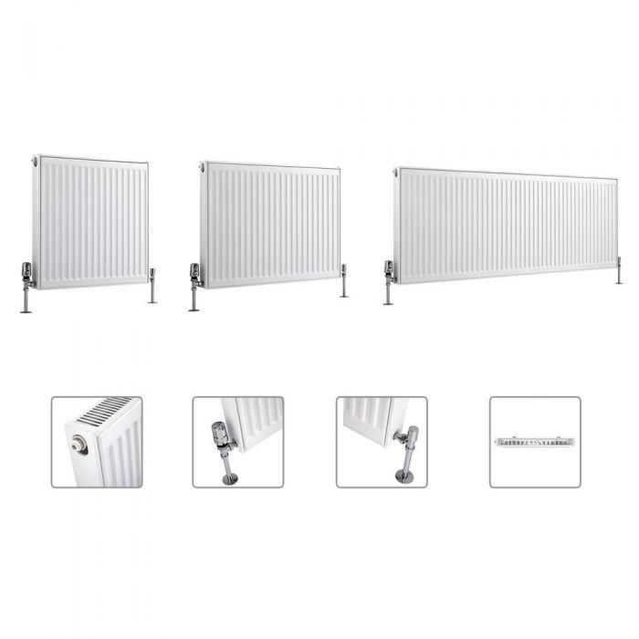 Milano Compact - Type 11 - Single Panel Radiator - Multi Sizes Available